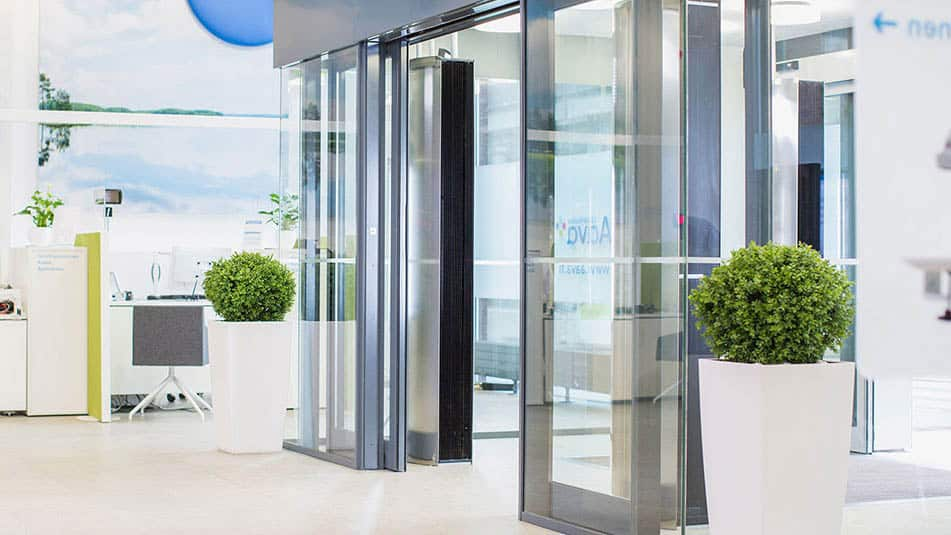 KONE Automatic Sliding Doors Compact Durable Energy Efficient