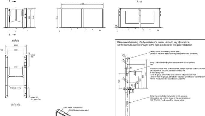 Door CAD Blocks, Details and Drawings for All KONE doors